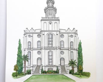 St. George LDS Temple Print