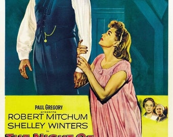 Summer Sale The Night of the Hunter 1955 Drama/Thriller Classic Movie POSTER