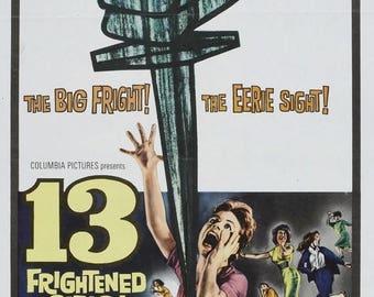 Back to School Sale: 13 Frightened Girls! Movie POSTER (1963) Thriller/Adventure