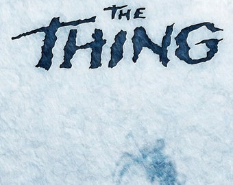 Back to School Sale: JOHN CARPENTER'S The Thing Movie Poster Kurt Russell