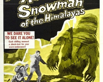 Back to School Sale: ABOMINABLE SNOWMAN Of The HIMILAYAS Movie Poster Hammer Horror