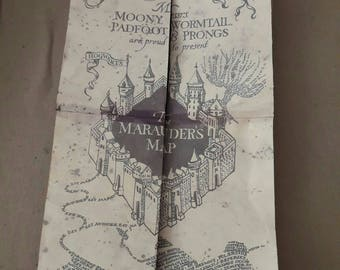 Maraudars map, full size, harry potter, cosplay,