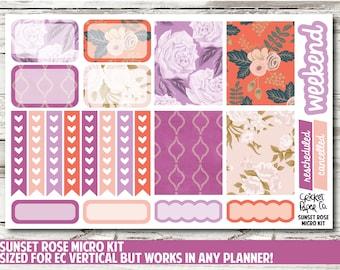 Sunset Rose Micro Kit Planner Stickers
