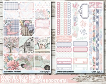 Country Days EC HORIZONTAL Planner Stickers
