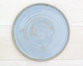 Handmade Dinner Plate - Calm Seas Blue Glaze - Made to Order