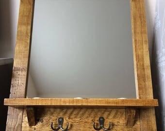 Reclaimed Mirror, Pallet Mirror, Rustic Mirror, Pallet Wood, Bathroom Mirror, Hallway Mirror, Reclaimed Wood, Framed Mirror, Rustic Decor