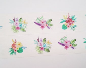 Design Washi tape flowers tropical masking tape
