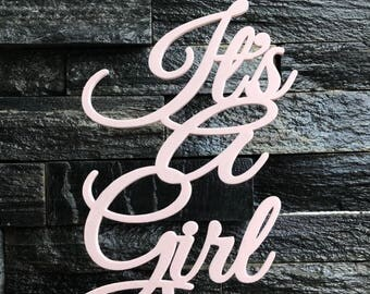 Its A Girl Cake Topper Baby Shower Gender Reveal