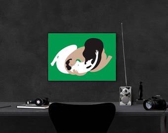 Yin & Yang Poster / Minimalistic illustration / Wall decor