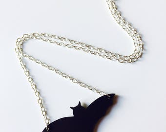Bat | Batman | Halloween | Matt | Black | Laser Cut | Acrylic | Necklace