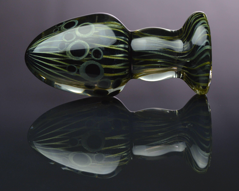 Glass Anal Plug - XXL - Reticello