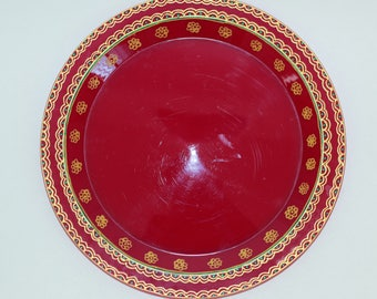 Beautiful Gold painted Indian/Pakistan Thali/Decorated Plate/Pooja thali/Henna party  sc 1 st  Etsy & Bollywood decor   Etsy