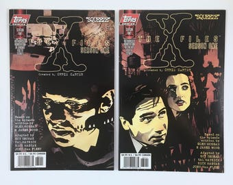 X-Files Comics, Season One, Squeeze, 2 Variant Covers, Agents Mulder, Scully, Eugene Tooms, Topps Comics, Mint Condition, Truth is Out There