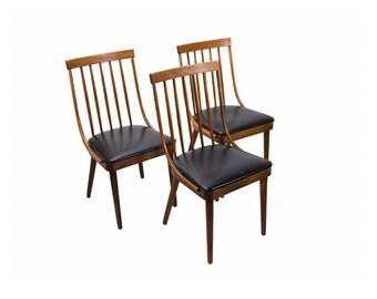 Set 3 Mid Century Bentwood Side Chairs Lawrence Peabody Richardson Nemschoff