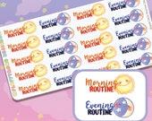 Biggie Daily & Evening Routine || Planner Stickers, Cute Stickers for Erin Condren (ECLP), Filofax, Kikki K, Etc. || BSS41