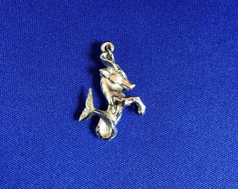 Mid Summer 50% Off Sale Seahorse Charm Sterling Silver 3D & Rhodium Plated