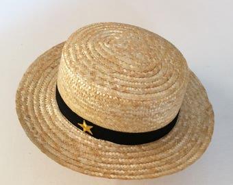 Natural Boater Hat star