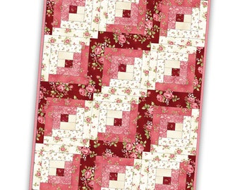FREE Shipping Flannel Log Cabin Precut Quilt Kit Pod by Maywood Studio Featuring Welcome Home Flannel POD-MAS02-WHF