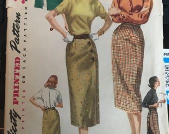 Vintage 40s Simplicity 1688 Skirt Pattern-25 Waist
