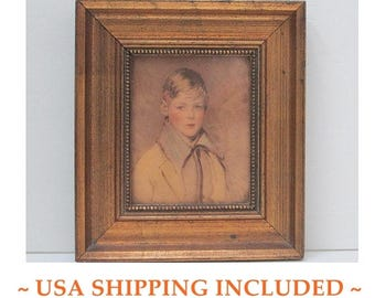 "Framed Print ""Peter"" by Arthur Garratt, C. & A. Richards Boston"