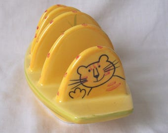 Tabby Cat Tiger Toast Rack - Four Slice Tiger Tabby Cat Toast Holder Rack