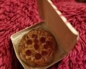 Dollhouse miniature Pepperoni Pizza in a Pizza Box
