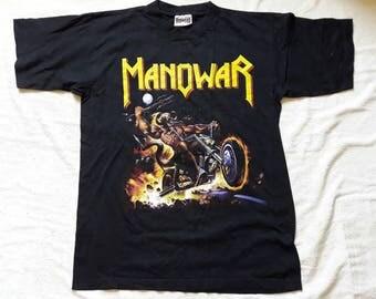Vintage 1990's Manowar Tour Concert T Shirt.