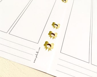 FOILED Bowie - Hole reinforcers - Planner Stickers - Erin Condren - Plum Paper - Kikki K - Paperchase - Filofax