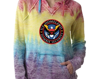 Burnout Hoodies Zombie Outbreak Response Team  Burnout Hoodies National defense Sweatshirt