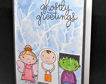 Trick or treater greetings