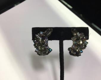 Dark Mystic Stone Costume Clip On Earrings