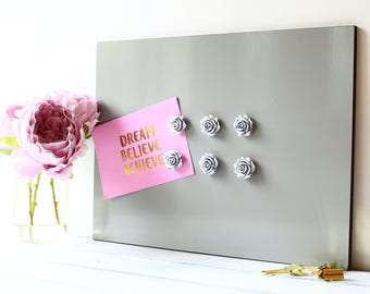 Notice memo board Magnetic photos organiser notes Ornate roses included 25 colours available Portrait or Landscape 2 sizes available (M2)