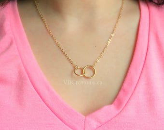 Infinity Necklace - Infinity Jewelry - Eternity Necklace - Symbol Jewelry - Love Symbol - Love Gift - Daity Chain - Silver - Gold - Mom Gift