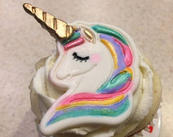 12 Unicorn cupcake toppers