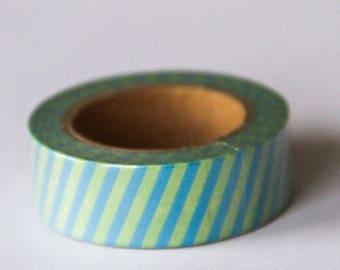 Washi tape - green stripes