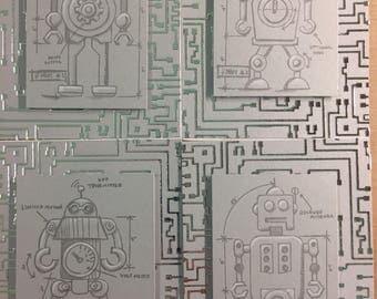Robot themed card set