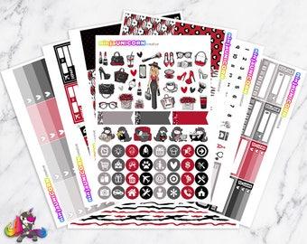 Shopaholic    Planner Sticker Kit, Shopping, Fashion, Planner Stickers, Planner Kit, Shopping Stickers, Fashion Stickers