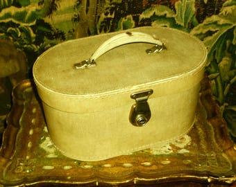 1950's Faux Snake Skin Vanity, Overnight Case