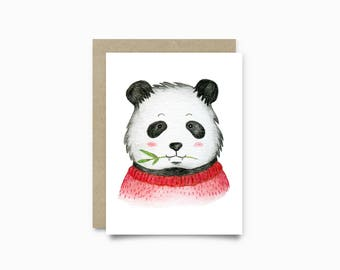 Greeting card - Panda