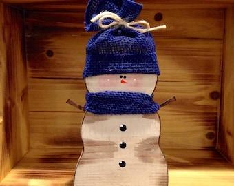 Wooden Snowman. Snowman Decor. Wood Snowman. Wood Christmas Decorations.