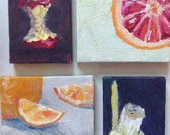 Miniature Fruit Painting