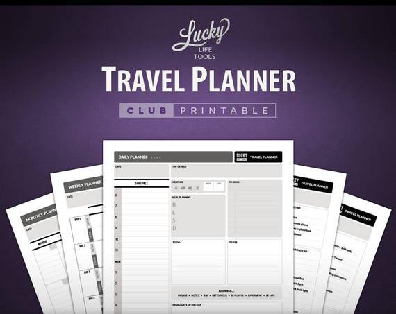 Travel Planner - CLUB Printable Worksheet