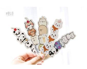 Cuteness Ice Cream Paper Bookmark Set   30 pcs different bookmarks   penguin bookmark   sumikkogurashi bookmark   cat bookmark