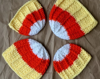 Crochet Candy corn hat. Newborn/child