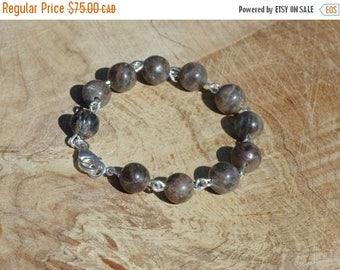Canada 150 Labradorite Bracelet ~ Hand Wired Sterling Silver  ~  Canadian Gemstones ~ Iridescent Semi Precious Stones ~ Aurora Borealis