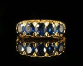 Antique Victorian Sapphire Gold Ring 18ct Circa 1900