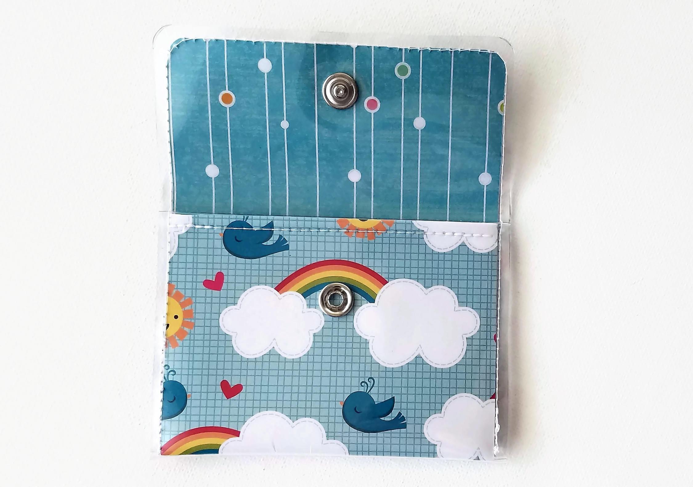 Rainbow Wallet, Cash/Card Vinyl, Bluebird Walla Wallat, Business ...