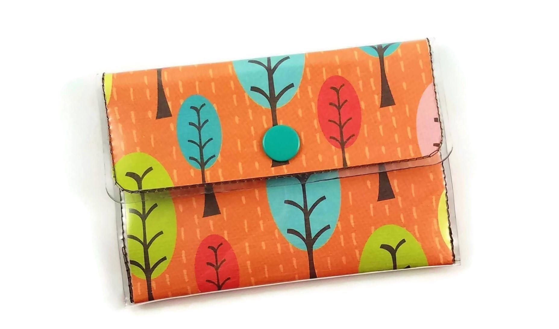 Vinyl Wallet, Forest Handmade Wallet, Autumn Trees Vinyl Business ...
