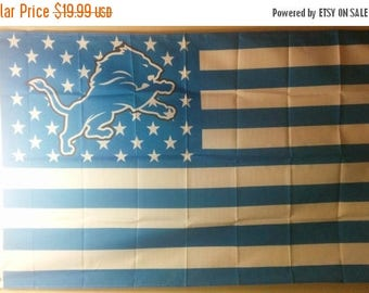 Summer Sale Detroit Lions, Lions Nation Flag or Banner 3' x 5'