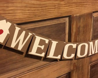 Welcome Home Banner, Housewarming Party Banner, Open House Banner, House Signing Decor
